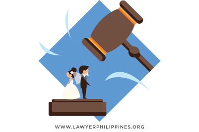 A wedding couple that is being pounded by a gavel.