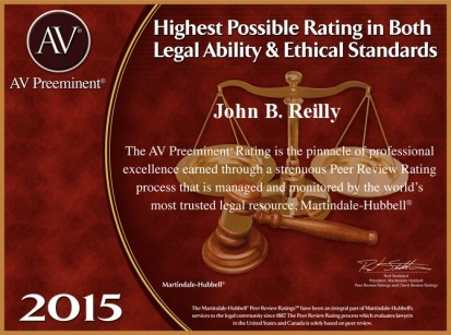 John Reilly & Associates - Legal Strike Force - Martindale-Hubbell AV Preeminent Award 2015