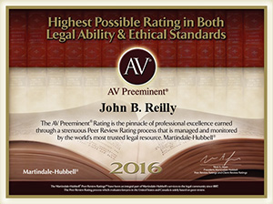 John Reilly & Associates - Legal Strike Force - Martindale-Hubbell AV Preeminent Award 2016