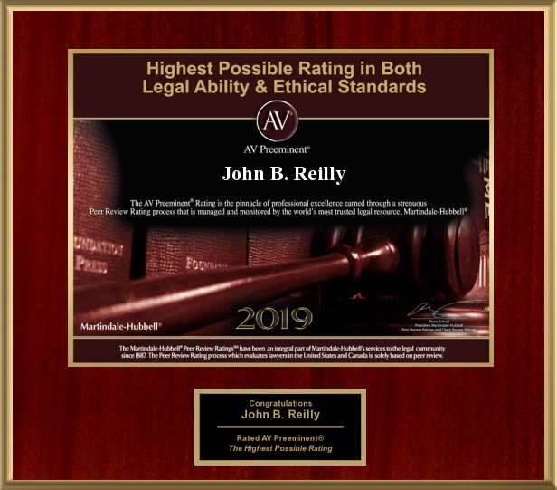 John Reilly & Associates - Legal Strike Force - Martindale-Hubbell AV Preeminent Award 2019
