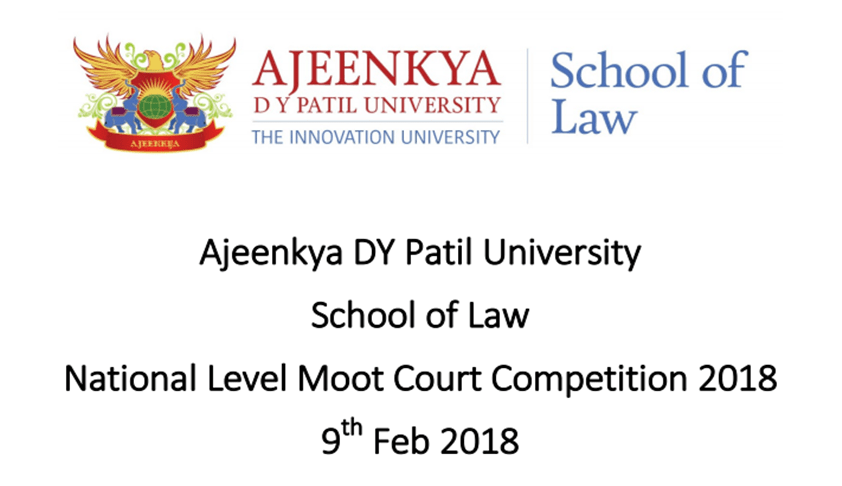 Ajeenkya DY Patil University's National Level Moot: