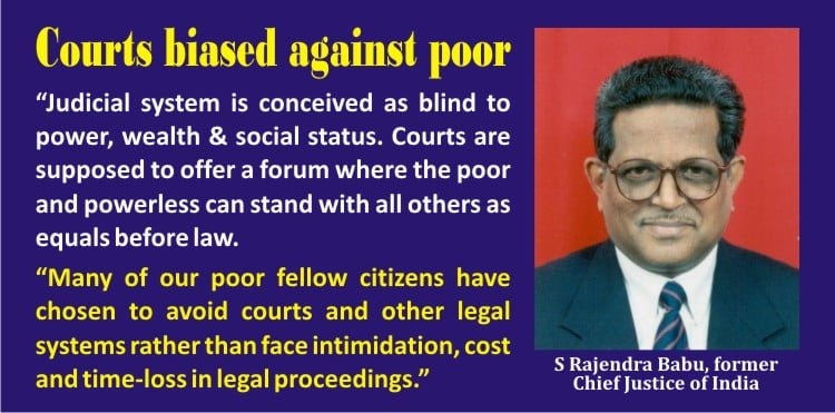 Criminal justice system in India biased against the Poor