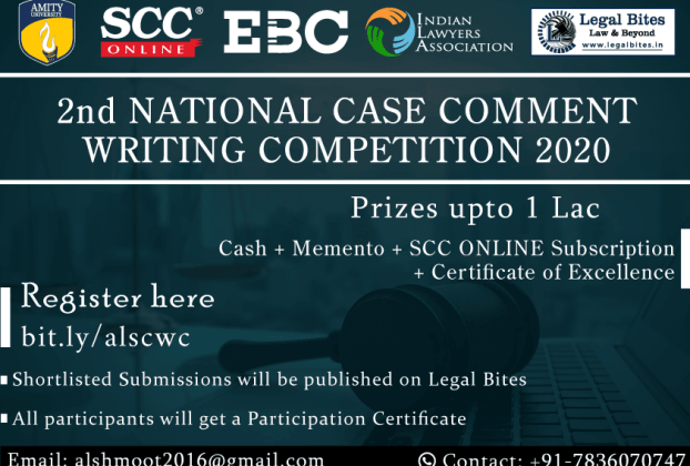 Amity National Case Comment Writing Competition 2020