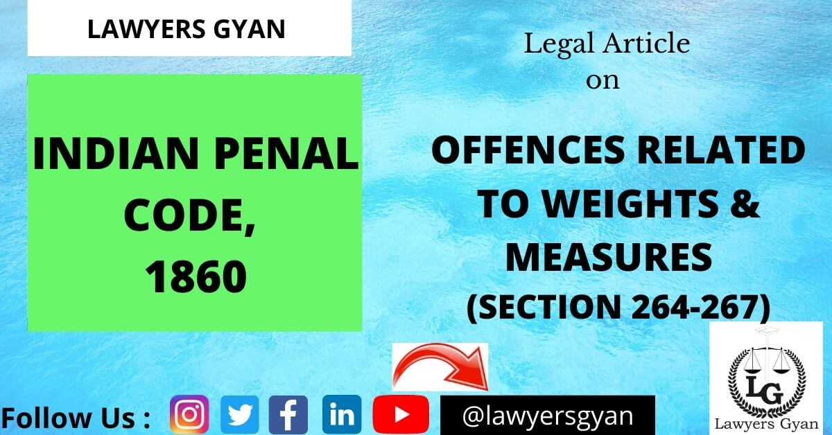 Offences related to Weights and Measures