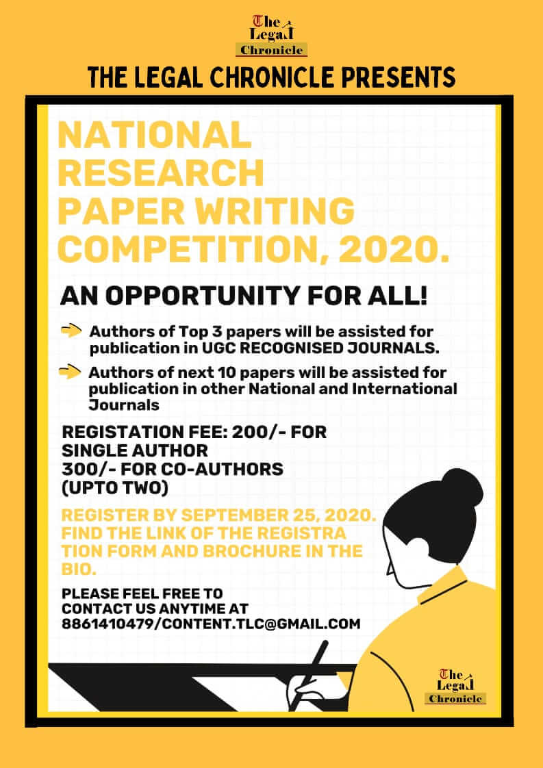 TLC RESEARCH PAPER WRITING COMPETITION, 2020