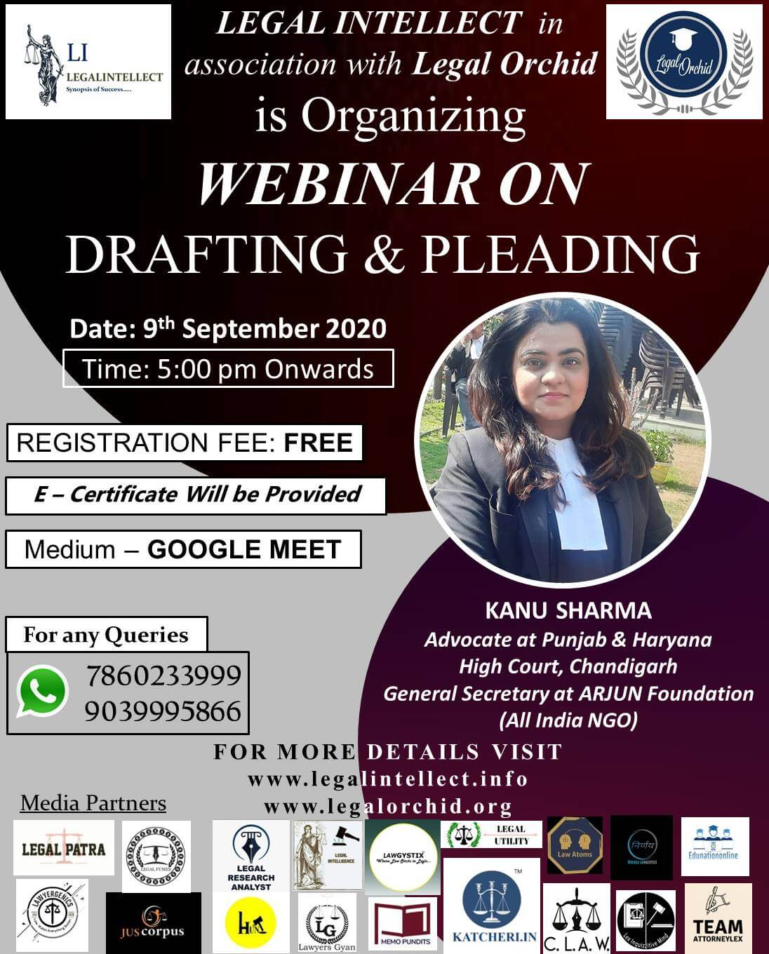 Webinar on DRAFTING AND PLEADING
