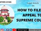 Appeal to Supreme Court