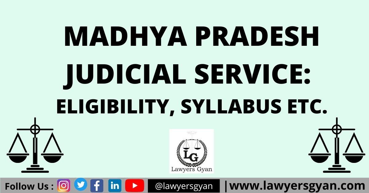 Madhya Pradesh Judicial Service