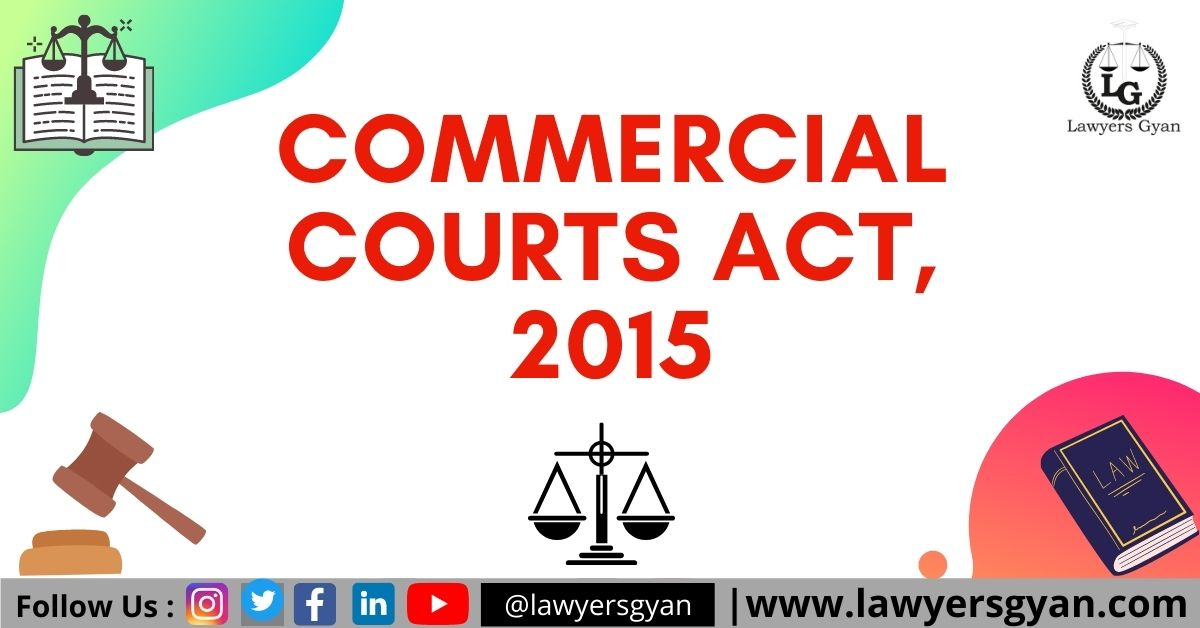 COMMERCIAL COURTS ACT, 2015