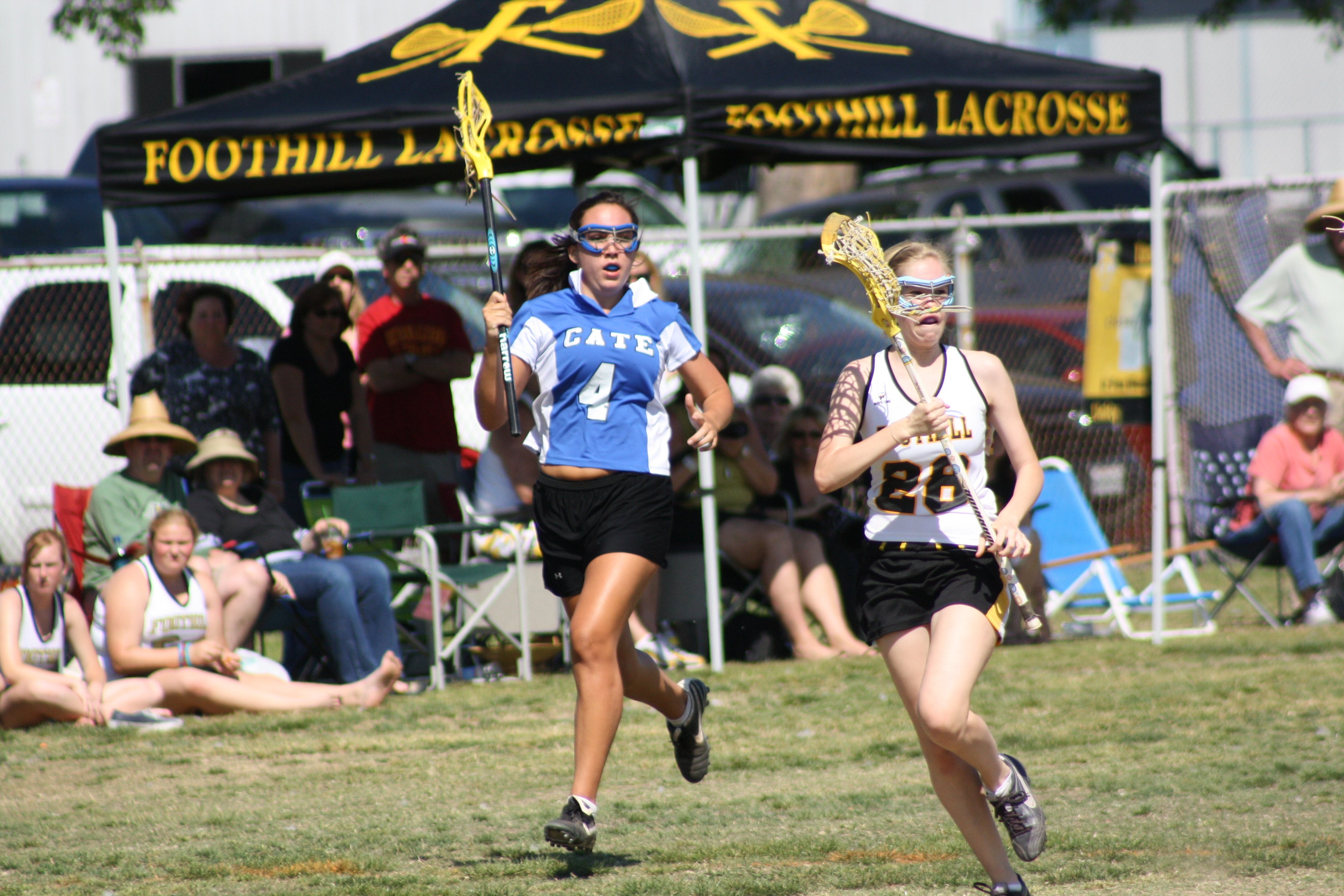 Foothill Varsity Girls on the attack against Cate School Saturday.