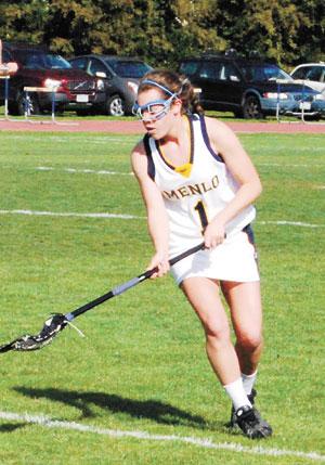 Menlo School's Maggie Brown has gotten exponentially better since taking up lacrosse.  Chris Clark / Menlo School