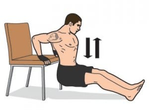 strength fitness test tricep dips