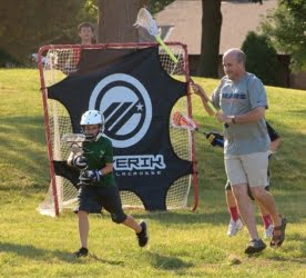dads defense father son lacrosse practice