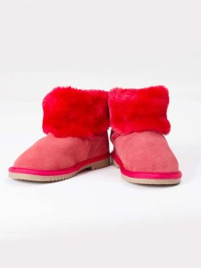 Ankle Boots Fur Red