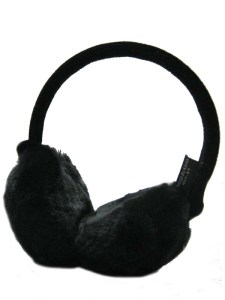 Black Fluffy Ear Muffs