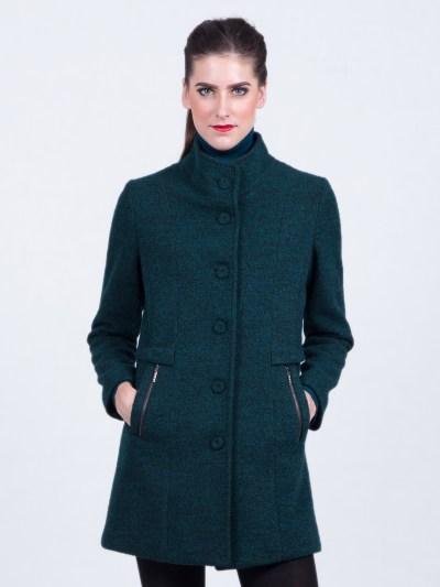 Ladies coats high collar Green