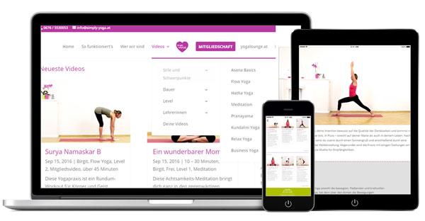 simply yoga - das unukomplizierte Online-Yogastudio mit Herz