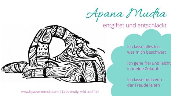 Apana Mudra hilft loszulassen