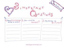 Worksheet: Die 3 wichtigsten Fragen