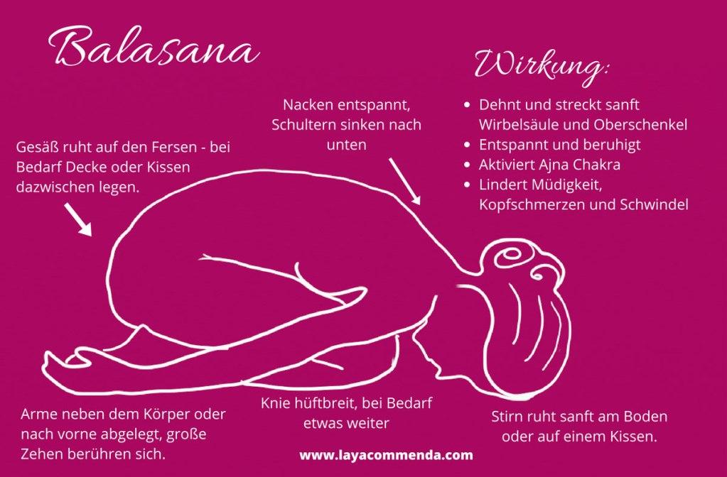 Balasana, die Stellung des Kindes