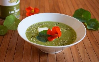 Grün. Cremig. Und very special. Kapuzinerkresse als Suppe!