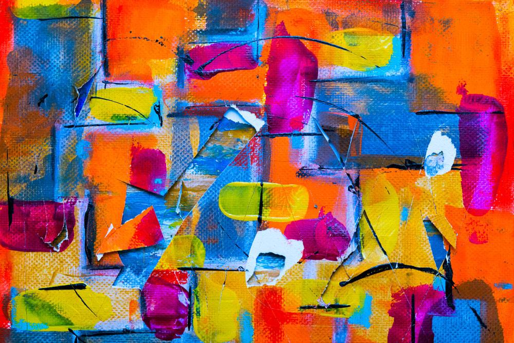 Interessant. Ein bisschen abstrakte Kunst an der Wand, und schon produziert mein monkey mind Vorurteile ohne Ende.
