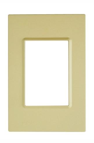 "Placa Verde Citrus (3 módulos) 4"" x 2"" - Delta Mondo (5TG9 861-5PA05) - SIEMENS"