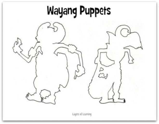 Wayang Puppets web