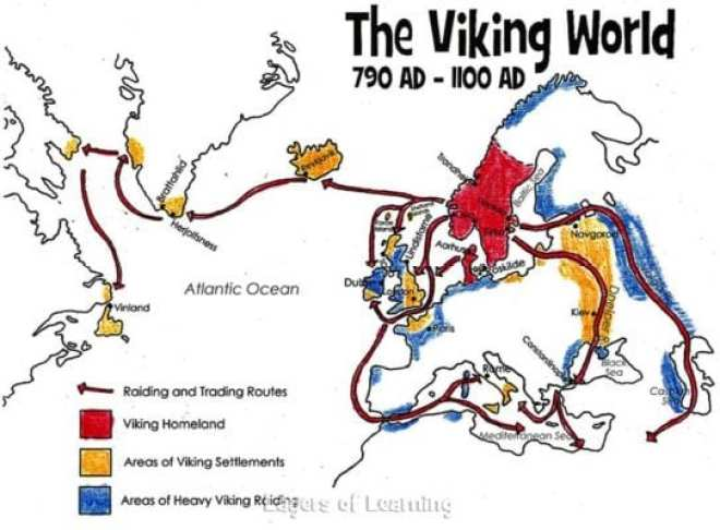 Map Of England 790 Ad.Viking People Layers Of Learning