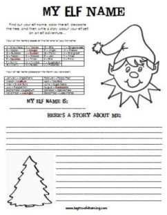 A Christmas Creative Writing Elf Adventure
