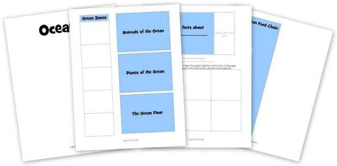 ocean lapbook printable