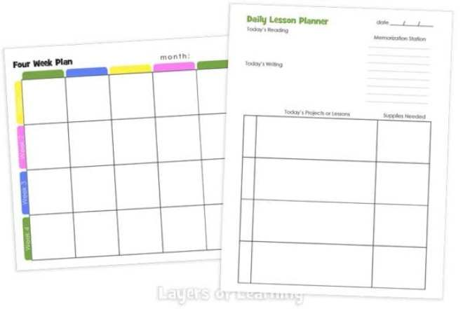 Layers of Learning Planner Other Lesson Planners