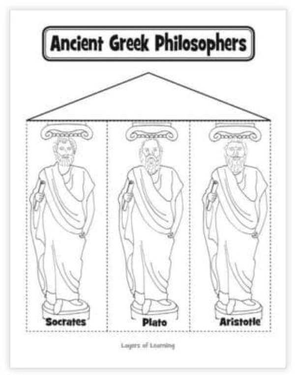 ancient greek philosophers printable