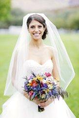 Colorful, textural bridal bouquet.