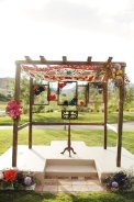 Unique chuppah designed by Layers of Lovely and When Pigs Fly Events