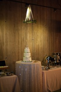 Olive halo over the cake
