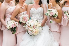 May wedding at the Four Seasons Las Vegas by Layers of Lovely Floral Design, Weddings and Events by Emily and J. Anne Photography.