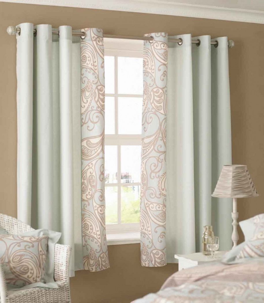 bedroom window curtains short point
