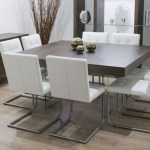 Contemporary Square Dining Room Table For 8 Seats With Glass Shelves Layjao