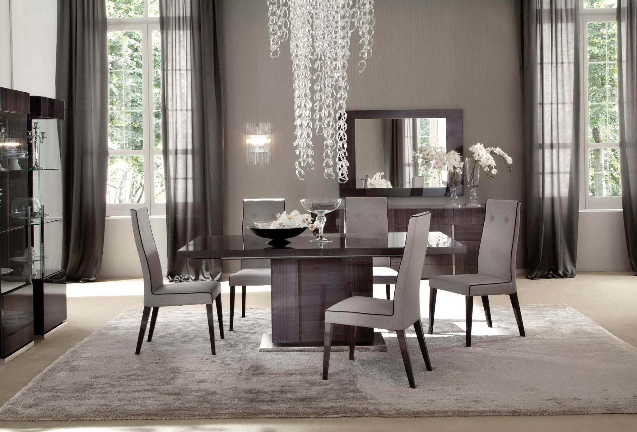 dining room window curtains new casual