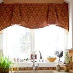 Kitchen Pretty Brown Fabric Curtain Valance Kitchen Window Ideas Layjao