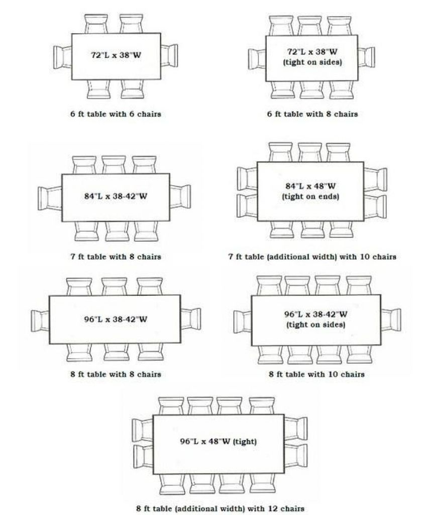 dining room table dimensions to seat 8