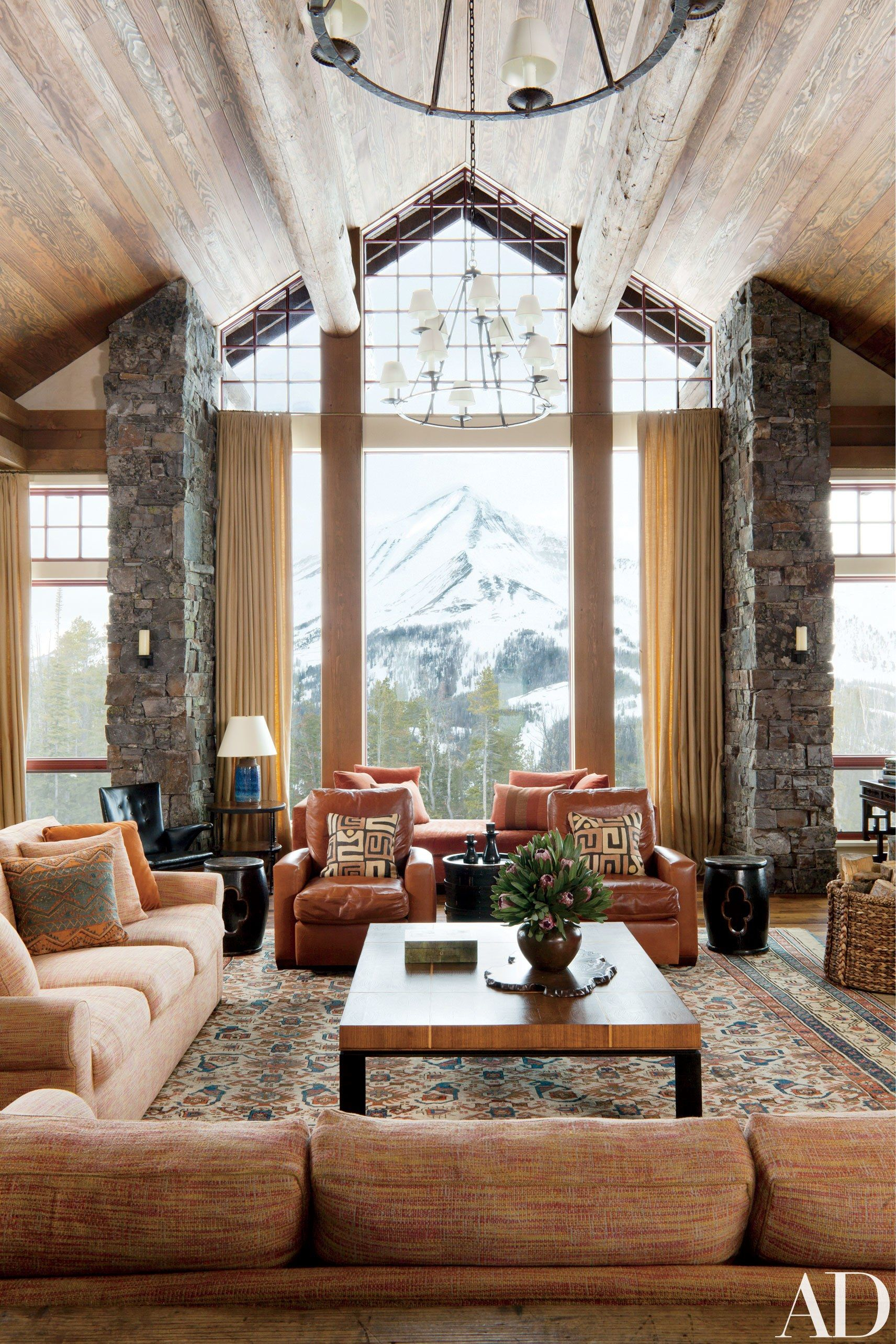 Rustic Living Room Architectural Digest Layjao