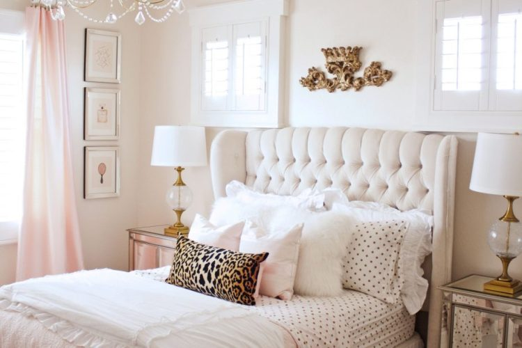 Blush Pink And Gold Bedroom Ideas Layjao