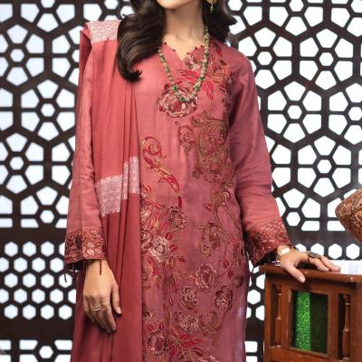 Salitex Jacquard Embroidered Unstitched 3 Piece Suit ST19-297