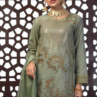 Salitex Jacquard Embroidered Unstitched 3 Piece Suit ST19-303