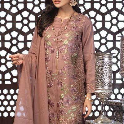Salitex Jacquard Embroidered Unstitched 3 Piece Suit ST19-304