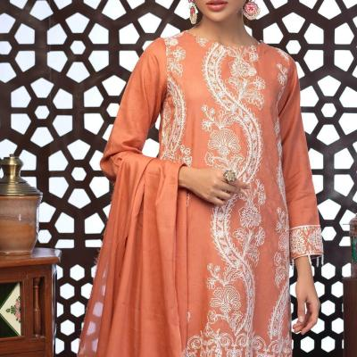 Salitex Jacquard Embroidered Unstitched 3 Piece Suit ST19-306