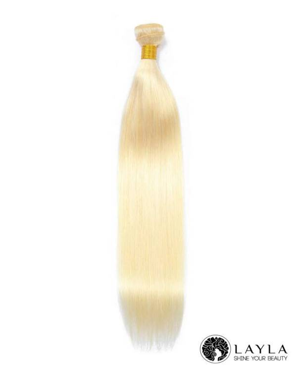 Cambodian straight blonde color hair
