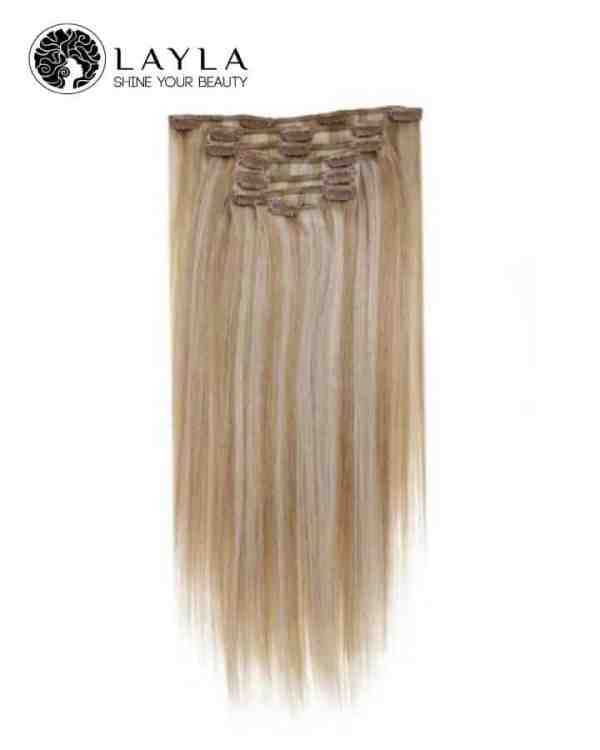 """Mixing color #27, #613 clip in straight hair 24"""""""